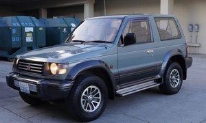 1991  Mitsubishi Pajero SWB diesel SUV 4WD RHD AT Jade $10.9k