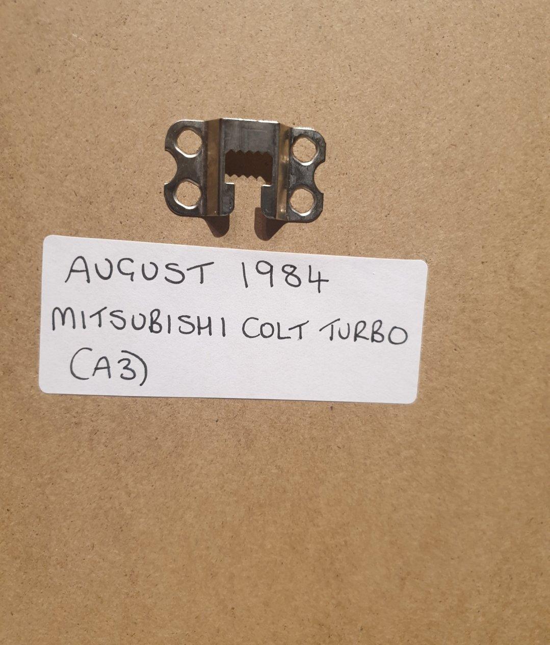 1984 Mitsubishi Colt Turbo Advert Original  For Sale (picture 2 of 2)
