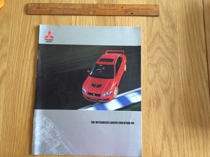 2002 Mitsubishi EVO 7 brochure For Sale