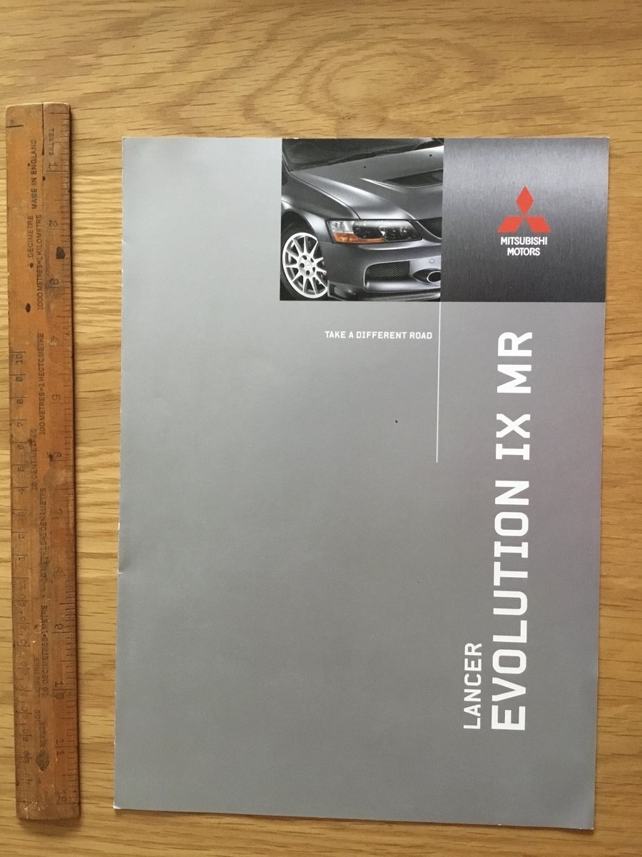 2006 Mitsubishi Evo 9 mr brochure For Sale (picture 1 of 1)