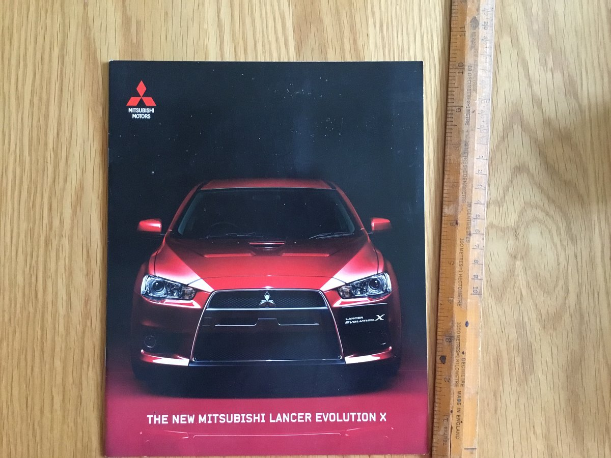 2007 Mitsubishi Evo 10 brochure For Sale (picture 1 of 1)