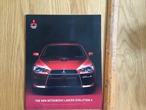 2007 Mitsubishi Evo 10 brochure For Sale