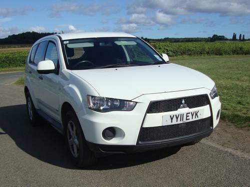 2011 MITSUBISHI OUTLANDER 2.2 Did 5 DOOR COMMERCIAL For Sale (picture 1 of 6)