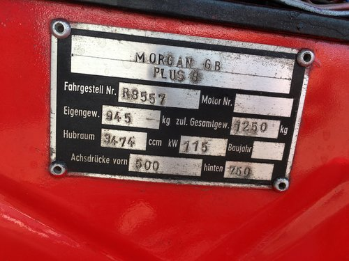1979 Morgan Plus 8 3,5 2 seater SOLD (picture 6 of 6)