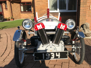 Handmade chaindrive Morgan pedal car For Sale