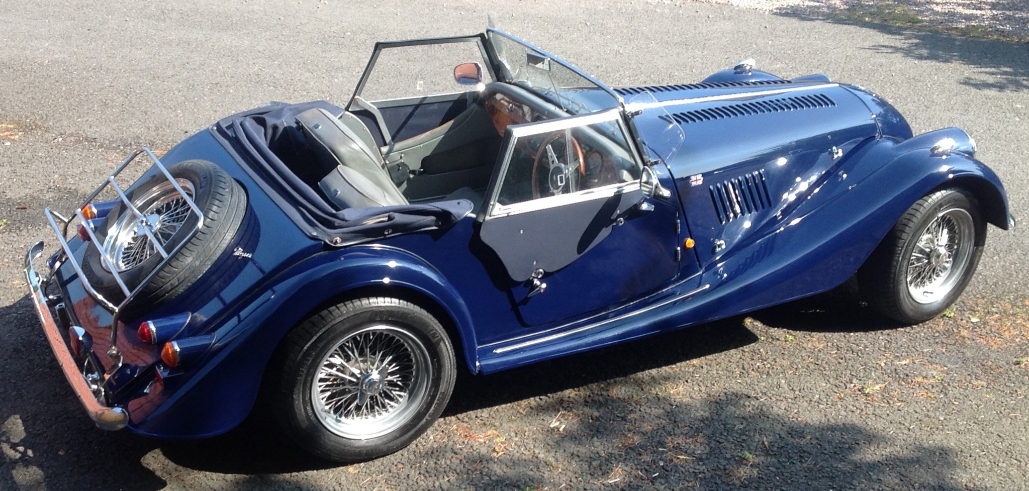 1991 Morgan Roadster 4/4 Indigo Blue SOLD (picture 4 of 6)