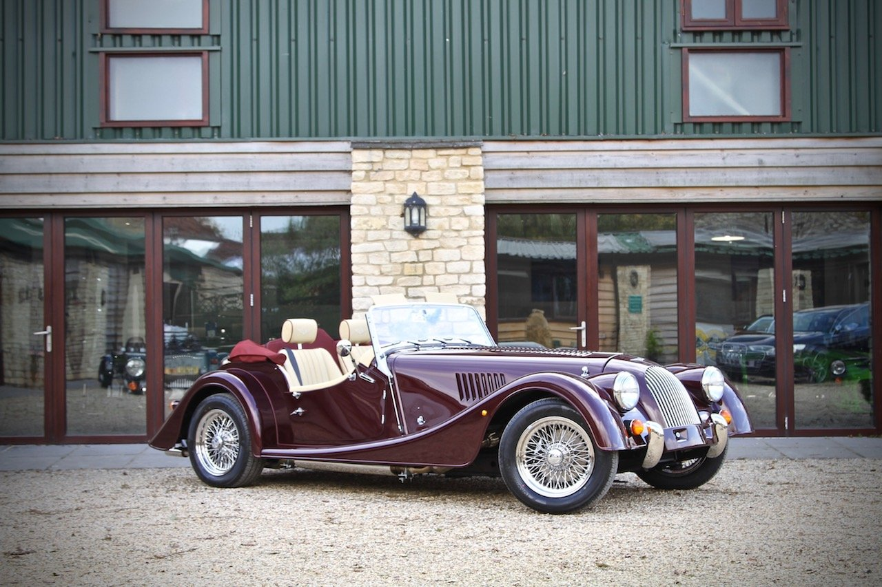 2019 NEW Morgan Plus 4 110, Bentley Velvet Red / Magnolia Leather For Sale (picture 1 of 6)