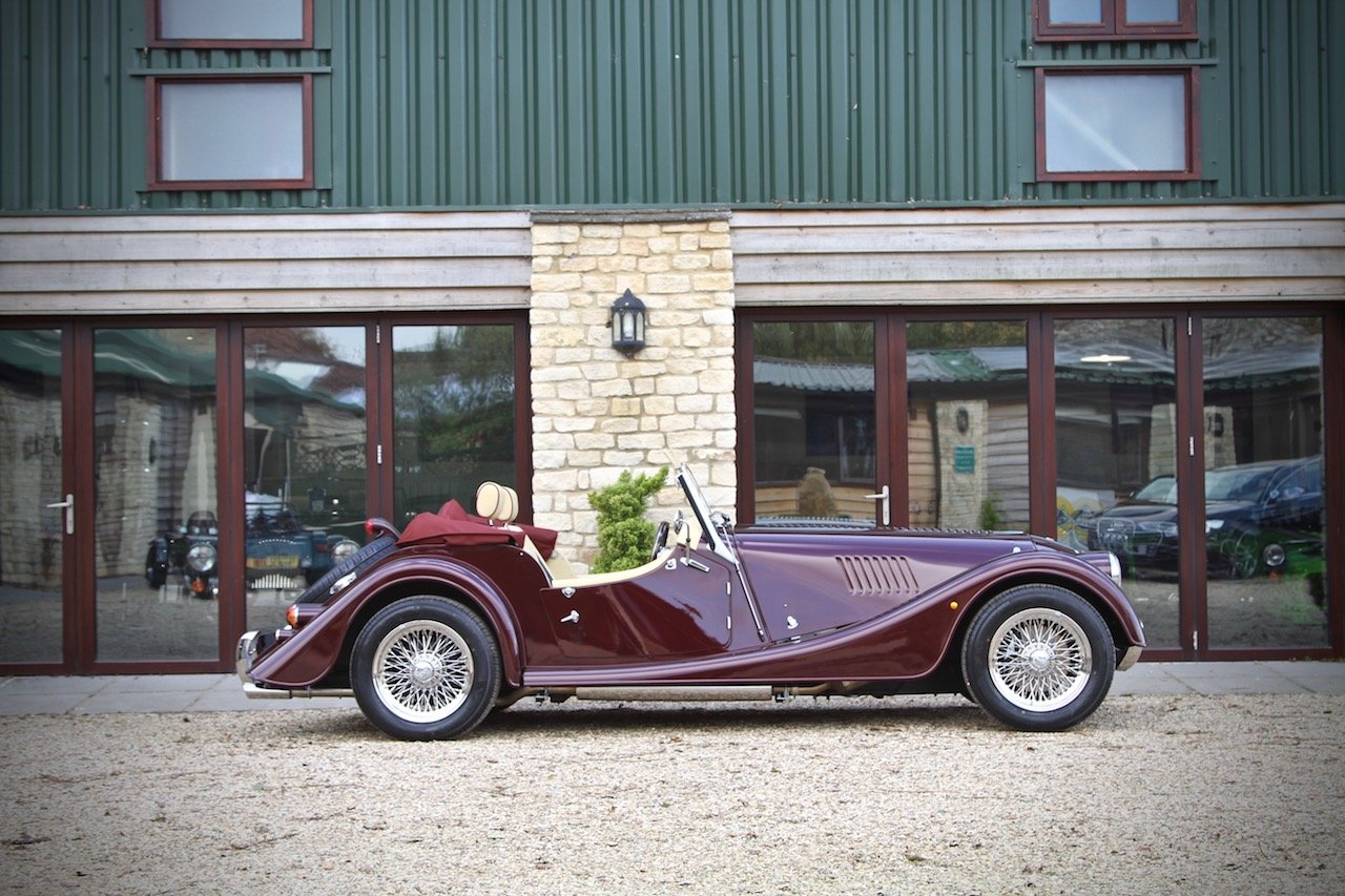 2019 NEW Morgan Plus 4 110, Bentley Velvet Red / Magnolia Leather For Sale (picture 2 of 6)