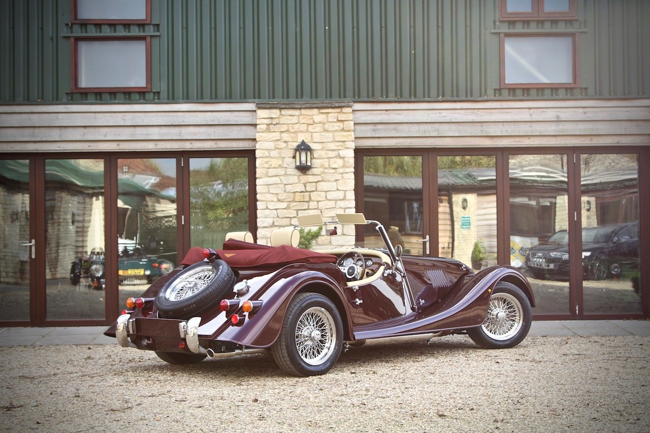 2019 NEW Morgan Plus 4 110, Bentley Velvet Red / Magnolia Leather For Sale (picture 3 of 6)