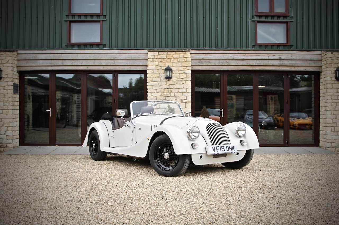 2019 DEMO Morgan Plus 4 2.0 GDI, Heron Grey / Cuba Leather For Sale (picture 1 of 6)