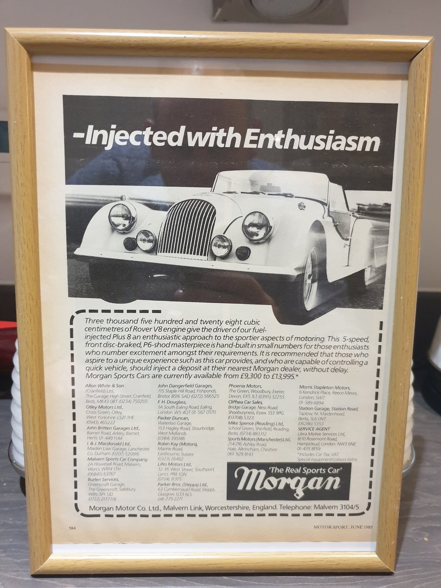 Original 1985 Morgan Framed Advert  For Sale (picture 1 of 2)