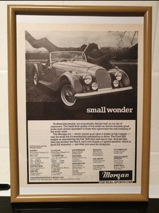 1983 Original Morgan 4/4 Framed Advert
