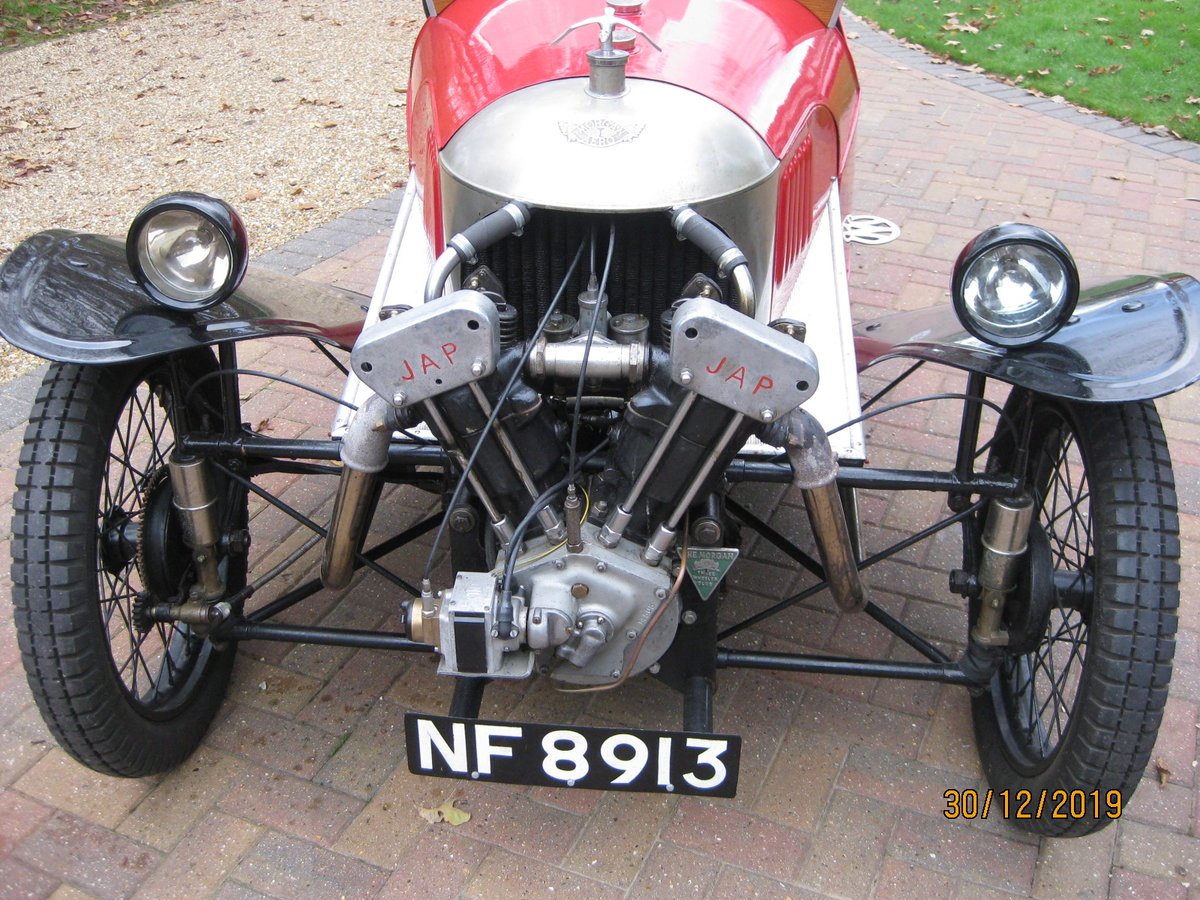 "1927 Morgan 3 wheeler 2 speed Aero with ""dog-eard"" JAP SOLD (picture 3 of 6)"