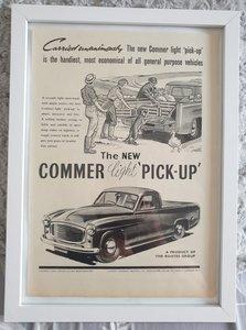 Original 1953 Commer Light Pickup Framed Advert