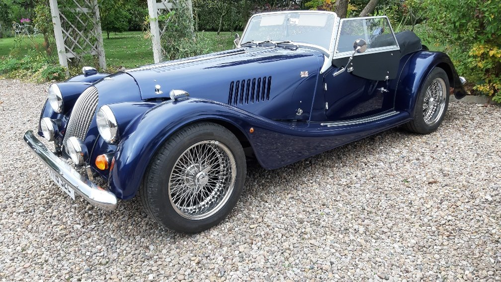 Picture of 2016 Morgan Roadster 3.7 Blue metallic, Biscuit leather For Sale