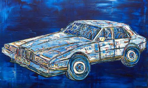 1984 Classic Cars Greetings Cards. Pack of 4 Different Cars For Sale (picture 5 of 6)