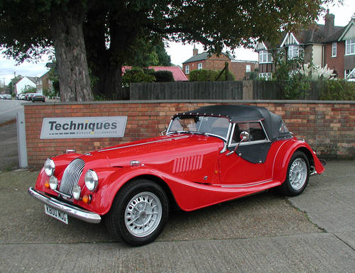 1993 Corsa Red Morgan Plus 8 SOLD (picture 1 of 6)