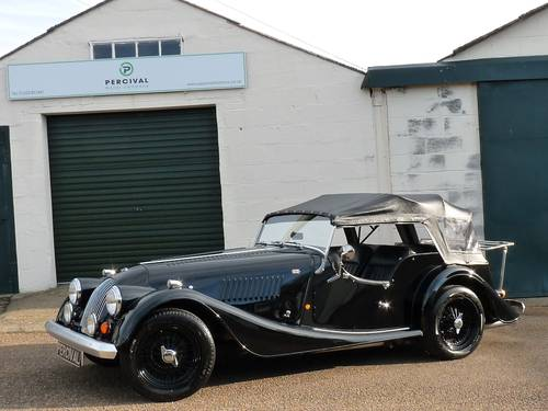 1992 Morgan Plus 4, four seater, black on black SOLD SOLD (picture 1 of 6)