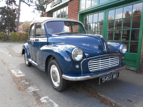 1963 Morris Minor 1000 Convertible  For Sale (picture 2 of 6)