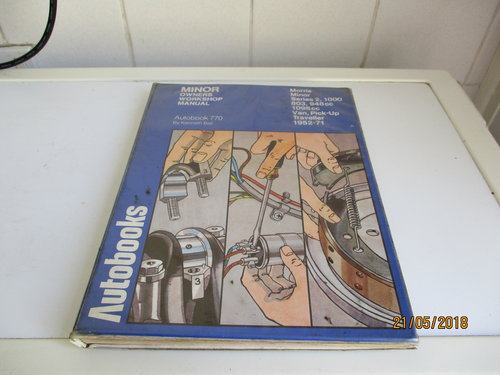 minor workshop manual For Sale (picture 1 of 1)