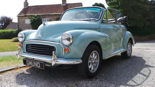 1969 Morris Minor 1000 Convertible SOLD (picture 1 of 6)