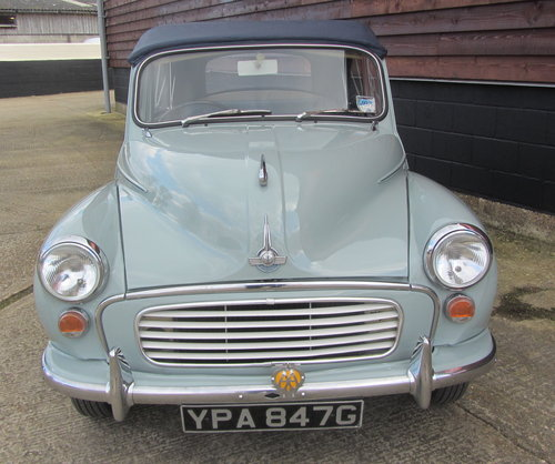 1968 Morris Minor Convertible  SOLD (picture 4 of 6)