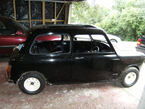 1968 1 of 3 known Mono-tone Black Morris Cooper For Sale (picture 1 of 6)