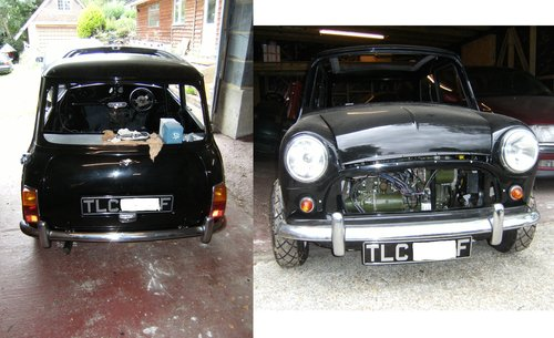 1968 1 of 3 known Mono-tone Black Morris Cooper For Sale (picture 3 of 6)