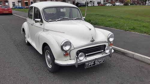 1968 MORRIS MINOR 1000 SOLD (picture 1 of 6)