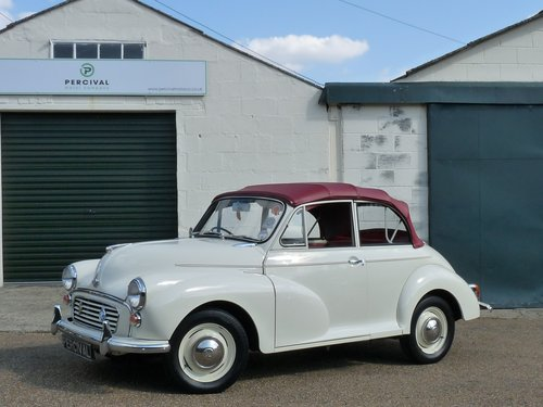 1967 Morris Minor Convertible, restored SOLD (picture 1 of 6)