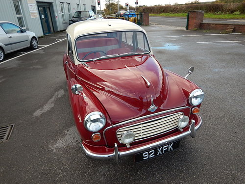 1964 Morris Minor 1000 Four Door Saloon ~  SOLD (picture 2 of 6)