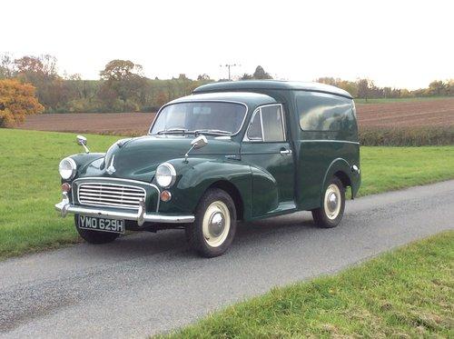 1970 Restored Minor Van in excellent condition SOLD (picture 1 of 6)