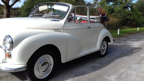 1966 MORRIS MINOR 'MOLLY' FACTORY CONVERTIBLE ~ SUPERB VALUE! SOLD (picture 1 of 6)