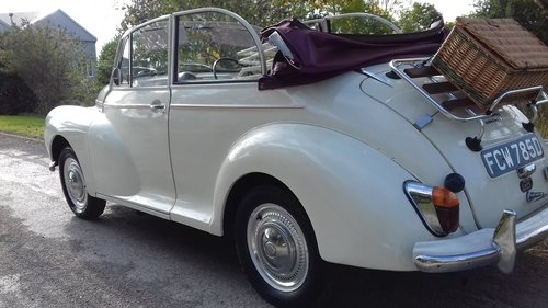 1966 MORRIS MINOR 'MOLLY' FACTORY CONVERTIBLE ~ SUPERB VALUE! SOLD (picture 2 of 6)