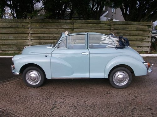1966 Genuine Morris Minor Convertible SOLD (picture 1 of 6)