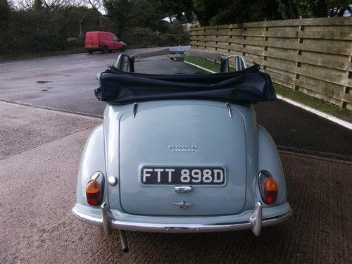 1966 Genuine Morris Minor Convertible SOLD (picture 3 of 6)