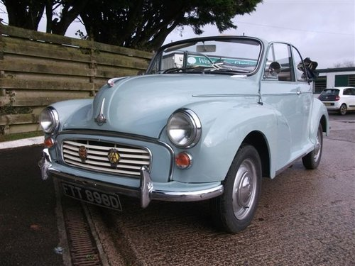 1966 Genuine Morris Minor Convertible SOLD (picture 4 of 6)