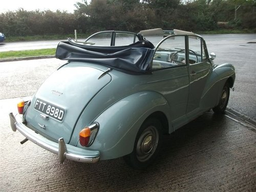 1966 Genuine Morris Minor Convertible SOLD (picture 6 of 6)