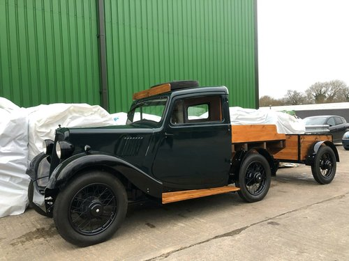 1938 Morris 8 Series II Pick-Up Truck & Trailer SOLD (picture 1 of 6)