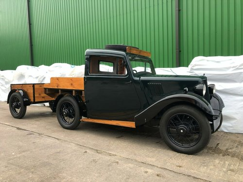 1938 Morris 8 Series II Pick-Up Truck & Trailer SOLD (picture 3 of 6)