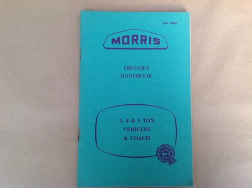 Morris 3,4 & 5 Ton Lorry - Coach Handbook  For Sale (picture 1 of 2)