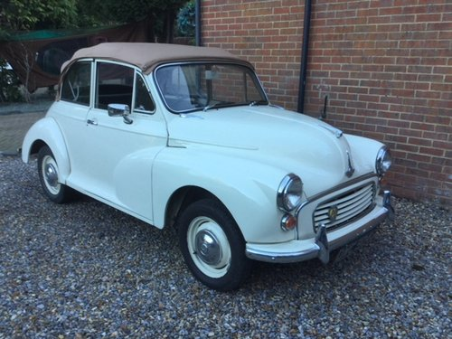 1969 Morris Minor 1000, 1098cc, Convertible For Sale (picture 1 of 6)