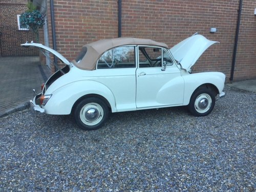 1969 Morris Minor 1000, 1098cc, Convertible For Sale (picture 5 of 6)