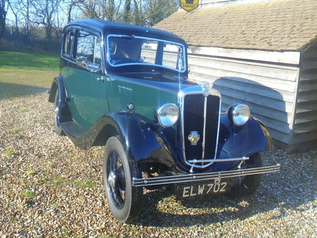 1937 Morris Eight Series 1 Two Door Saloon. For Sale (picture 5 of 6)