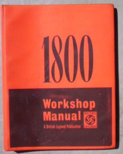 Genuine Austin Morris 1800 & 18/85 Manual 1971