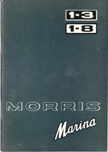 Official Morris Marina 1.3 & 1.8 Handbook 1974