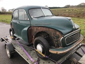 Morris minor mini 1956 2 owner car project barnfin For Sale