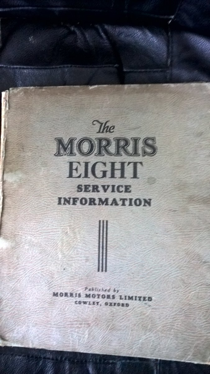 Morris Eight Factory Manual For Sale (picture 2 of 2)