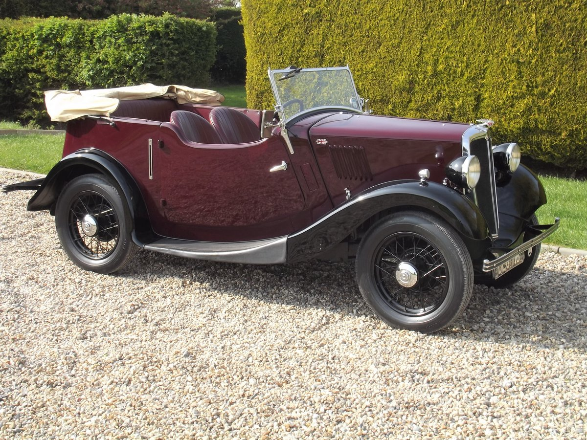 1936 Morris 8HP Series One Four Seater Tourer For Sale (picture 1 of 6)