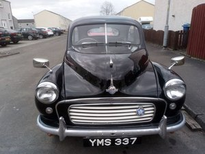 1956 Morris Minor at Morris Leslie Classic Auction 25th May SOLD by Auction